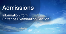 Information from Entrance Examination Section